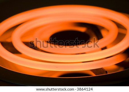 Close-up image of an electric range heating element - stock photo