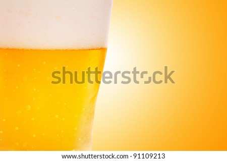 Close up image of beer glasses. - stock photo