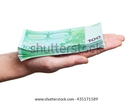 close up image of hand taking several bills