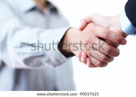 Close up image of hands in handshake - stock photo