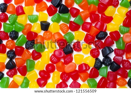 Close-up image of hard jelly candies.