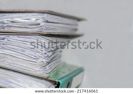 Close up image of papers in the old file folders