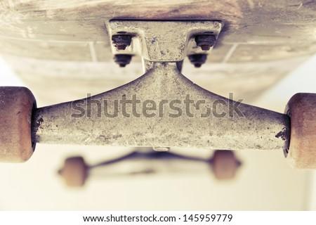 close up image of skateboard  - stock photo