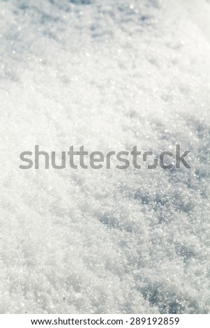 Close up image of snow texture, natural background.