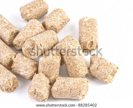 Close up image of wheatfeed pellets - stock photo