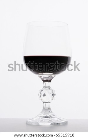 Close up image of wine in a glass - stock photo