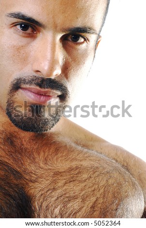 Close-up Isolated Head Shot - stock photo