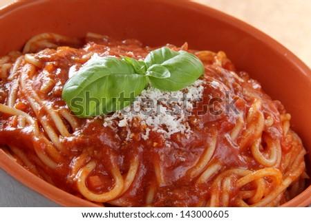 close up italian pasta - stock photo