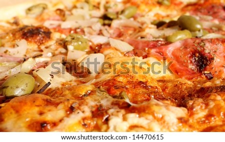 close up Italian pizza
