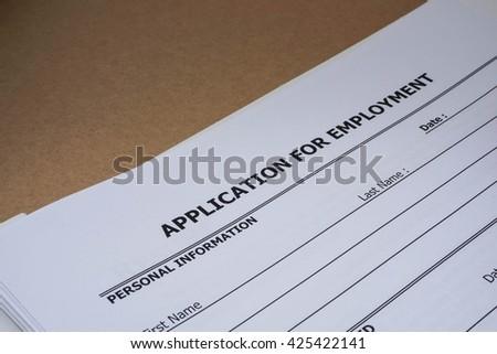 close up job application form - stock photo