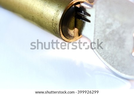 Close up keys and lock Cylinder
