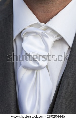 Close up knot necktie - stock photo