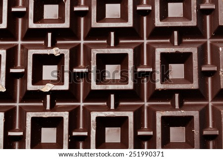 Close up look at bitter chocolate - stock photo