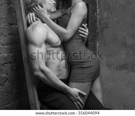 Man and woman passionate sex