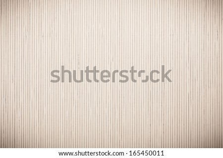 Close up macro of gray grey bamboo mat as striped background texture pattern. Oriental - stock photo