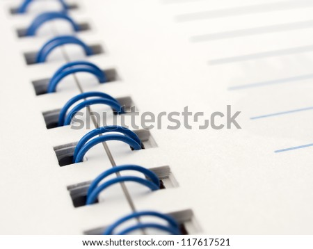 Close up memo notebook paper - stock photo