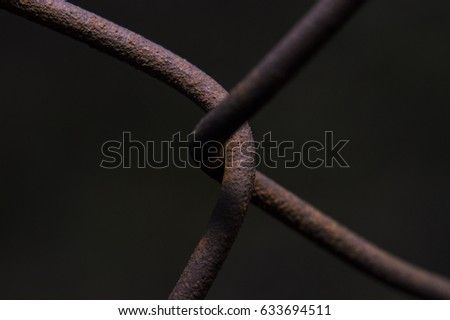 Close-up mesh fence element