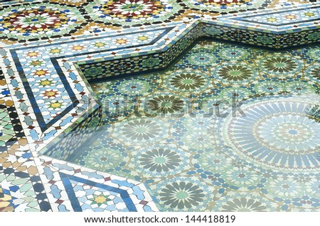 Close up Moroccan Tile Pattern - stock photo