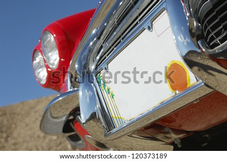 Close up number plate of a car - stock photo