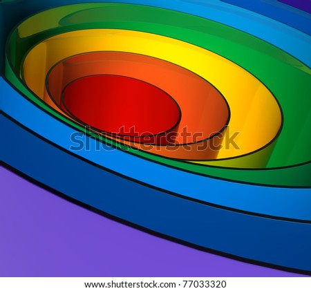 Close up of a abstract colorful rainbow texture