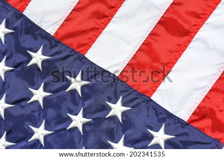 Close up of a American Flag