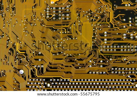 close  up of a an integrated circuit board
