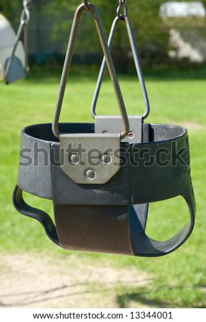Close-up of a baby swing in the playground