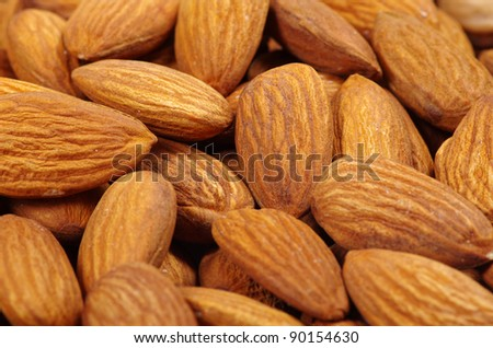 Close up of a background almond