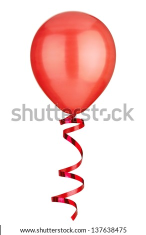 close up of  a balloon  on white background - stock photo