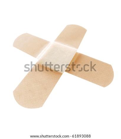 Close up of a bandage on skin - stock photo