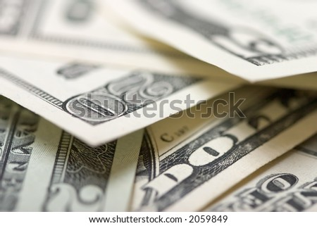 Close-up of a $ banknotes