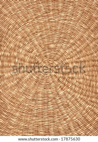 Close up of a basket texture