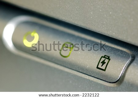 Close up of a battery signal - stock photo