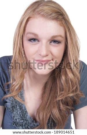 Close up of a Beautiful Girl - Isolated background