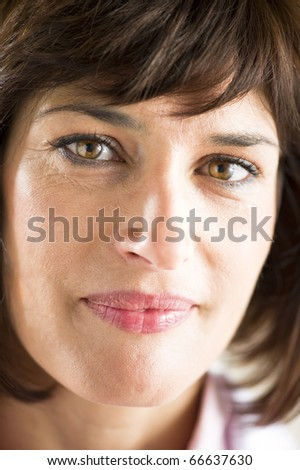 Close-up of a beautiful mature woman