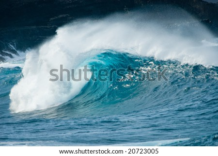 close-up of a beautiful ocean wave - stock photo