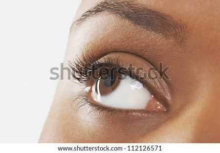 Close-up of a beautiful young woman's eye