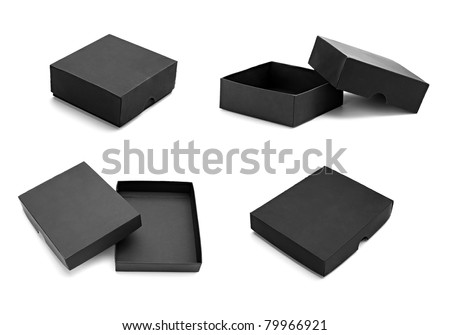 close up of a black box on white background - stock photo
