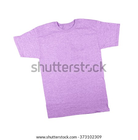 close up of a blank t-shirt - stock photo