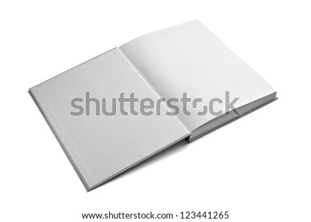 close up of a  blank white paper on white background - stock photo