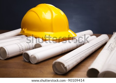 Close up of a blueprint - stock photo