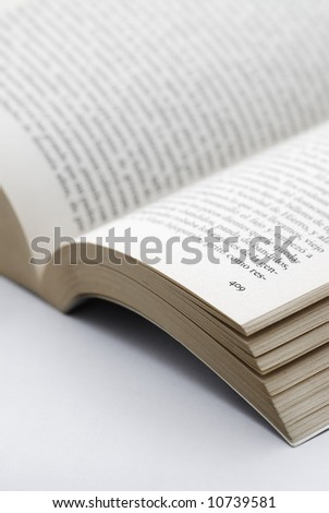 close up of a book, open at page 409