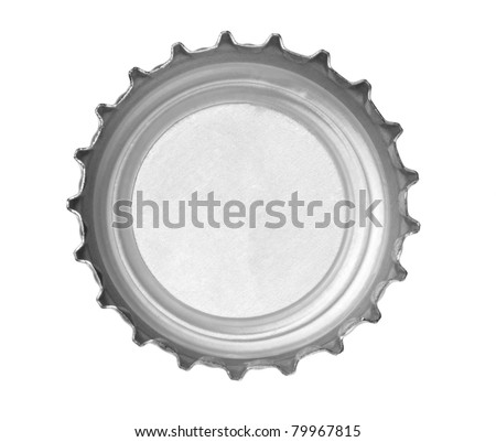close up of  a bottle cap on white background with clipping path - stock photo