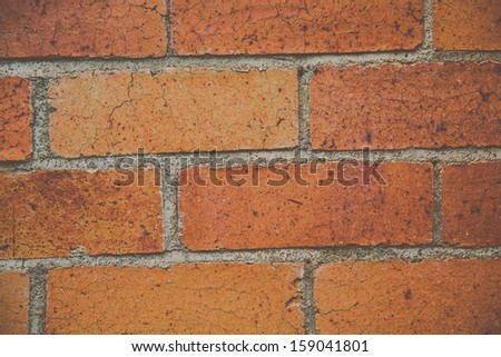 Close-up of a brick wall. - stock photo
