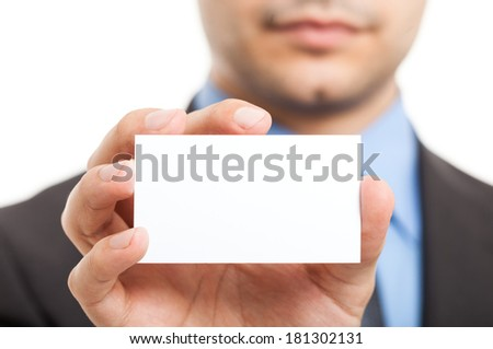 Close-up of a business card