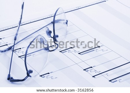 Close up of a business project plan - stock photo