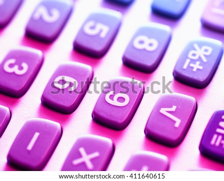 Close up of a Calculator