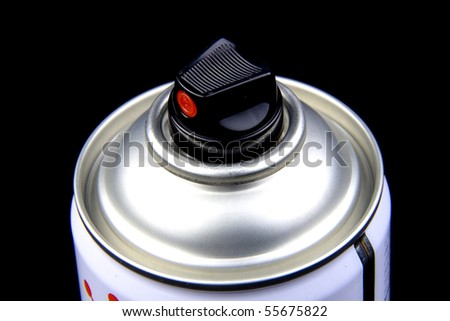 close up of a can of spray paint - stock photo
