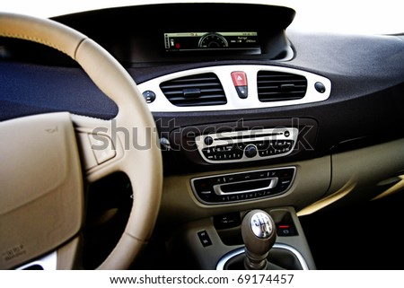 Close-up of a car board. - stock photo
