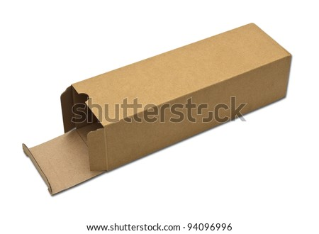 close up of a card box on white background - stock photo